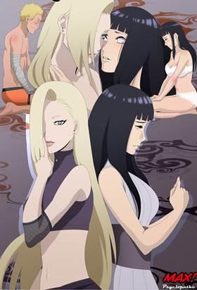 Naruto Shippuden comendo Hinata e Ino