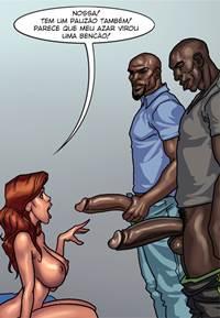 Negros big dotados comendo dona de casa