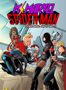 Spiderman comendo Ms.Marvel