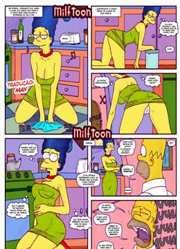 Milftoon Simpsons – Moe comendo Marge