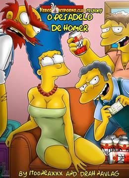 O pesadelo de Homer Simpson