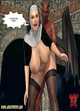 Evil Nun – Sexo com freira gostosa