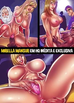 Mirella Mansur fazendo sexo em público em HQ pornô