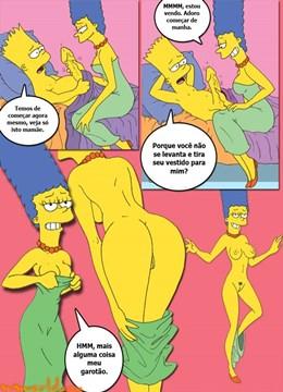 Simpcest 1: Marge acordando Bart com boquete